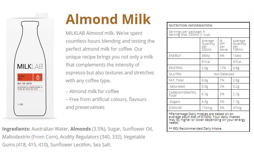 almond milk info